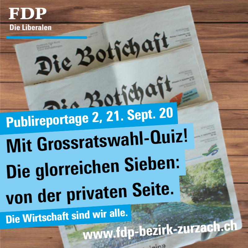 Publireportage 2; mit Grossratswahl-Quiz